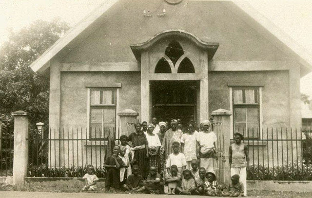 1931, An early Assemblies of God church in Sierra Leone. Want to trade? marchmatron.com