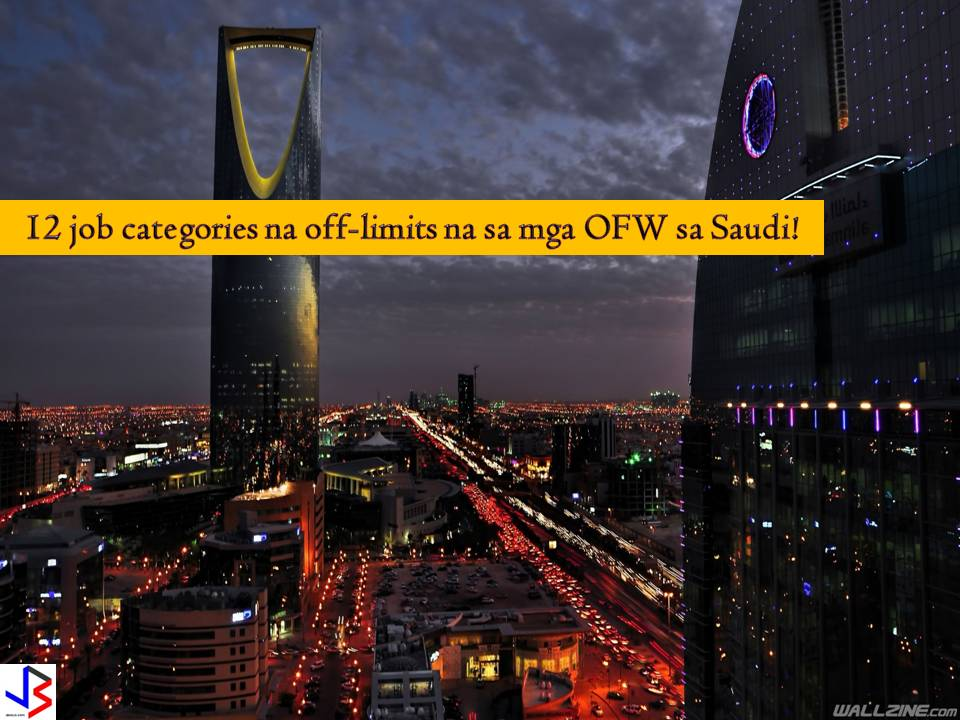 "No doubt, Saudi Arabia is still a top destination for Overseas Filipino Workers (OFWs) for many years now. But with the implementation of Saudization, the ""world"" of OFWs and other expatriates in Saudi Arabia is getting smaller. Started in 2011 up to now, the Kingdom is slowly limiting some jobs to their locals to boost local employment of Saudis. This includes jobs that former belong to OFWs and other expats.  This 2018, another batch of job categories in Saudi Arabia will be limited to locals or their nationals by the end of the year. The Saudi Labor and Social Development Ministry has issued an order that limits 12 jobs and different shops only to their citizens. It means expat workers are no longer allowed to apply for these jobs.   According to ministry spokesman Khaled Aba Al Khail, starting September 11, 2018, no expats will be allowed to work in car and motorbike shops, men's and children's wear, home and office furniture, and home utensils.  This will be followed by Saudization on shops that sells electronics and electric appliances, watches, and eyeglasses that will take effect on November 9, this year.  This is not the end yet, because, by January next year, Saudi Arabia will also nationalize jobs at medical equipment, building materials, car spare parts, carpet and rugs and confectionary shops. This will start on January 7, 2019.  Saudization starts in 2011 as part of the Kingdom's initiative to encourage Saudi national to work in the private sector."
