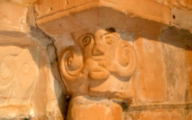 'Green Man' carving at Longdon Church