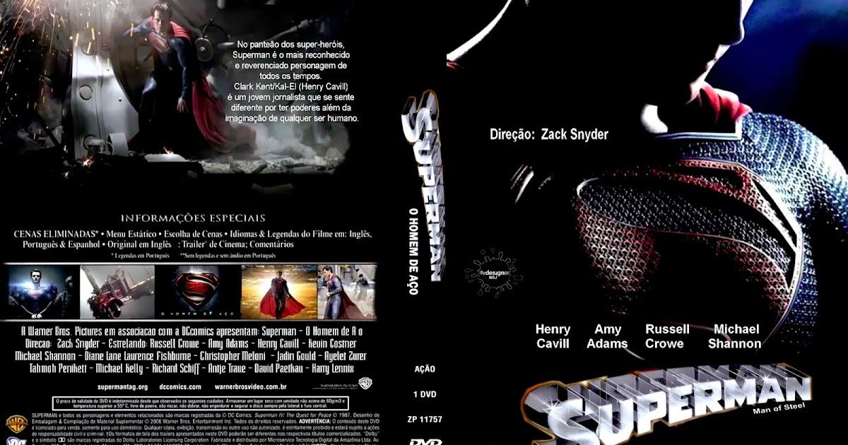 CAPAS DVD VIDEO JP: SUPERMAN O HOMEM DE AÇO