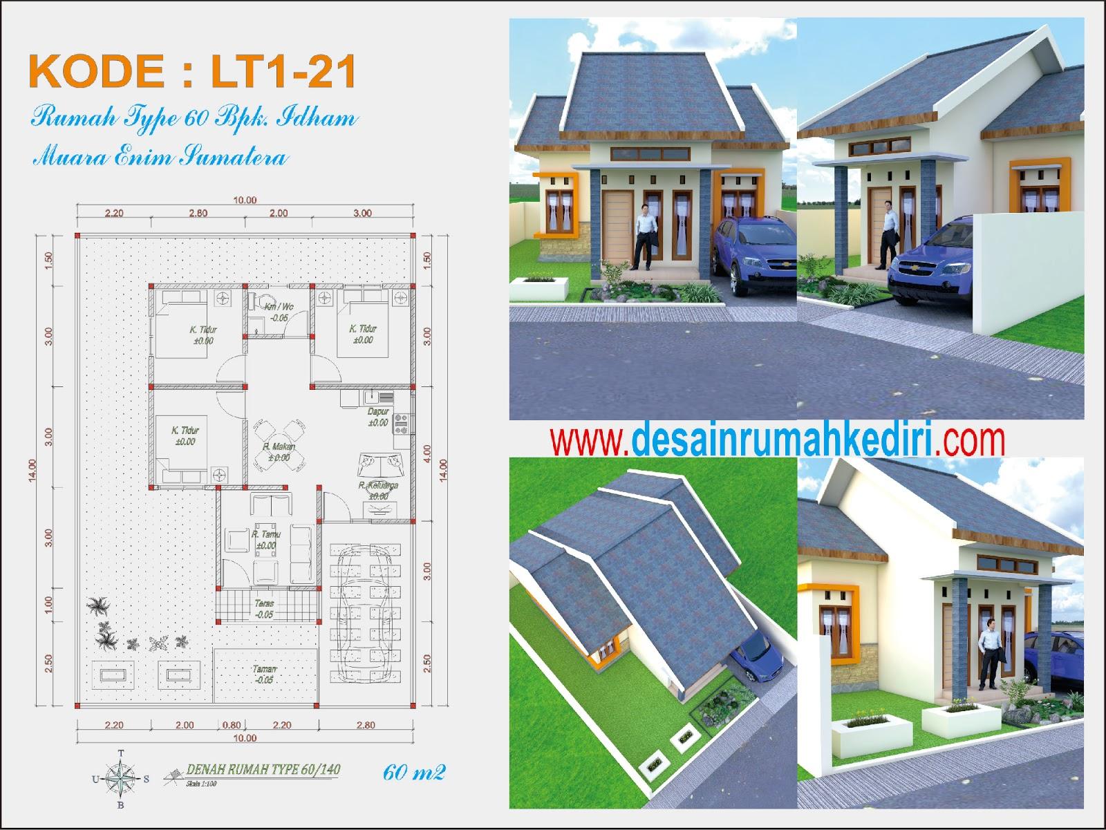 LT1 21 Jasa Desain Rumah Bpk Idham di Muara Enim