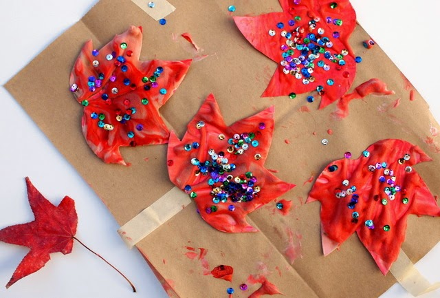 How to make homemade puffy paint leaves for a fun fall craft