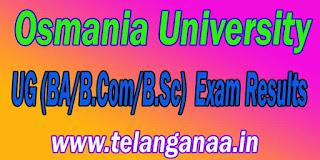 Osmania University UG(BA/B.Com/B.Sc) Exam Results Download