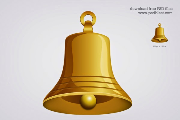 5. Gold Bell Icon (PSD)