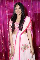 Adaa Sharma in White Pink Saree at Zee Telugu Apsara Awards 2017 26.JPG