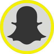 snapchat button outline