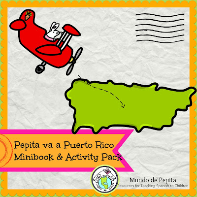 Puerto Rico Culture Activity Pack for Elementary Spanish Class