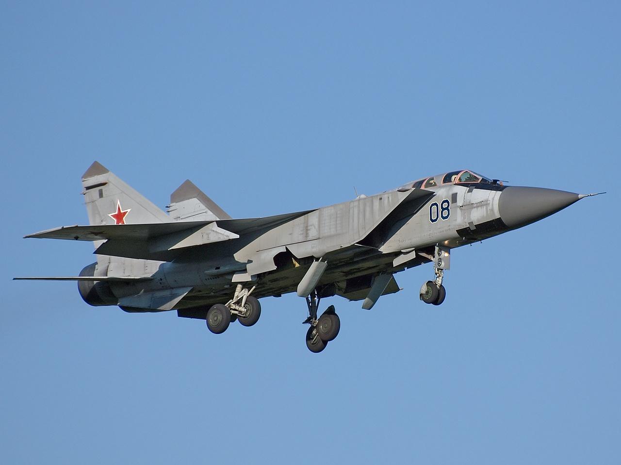 Mikoyan Gurevich Mig 31 The Foxhound Landing Gear Retracted Aircraft