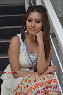 Telugu Actress Anu Emmanuel New Stills in Beautiful White Long Dress  0051.JPG