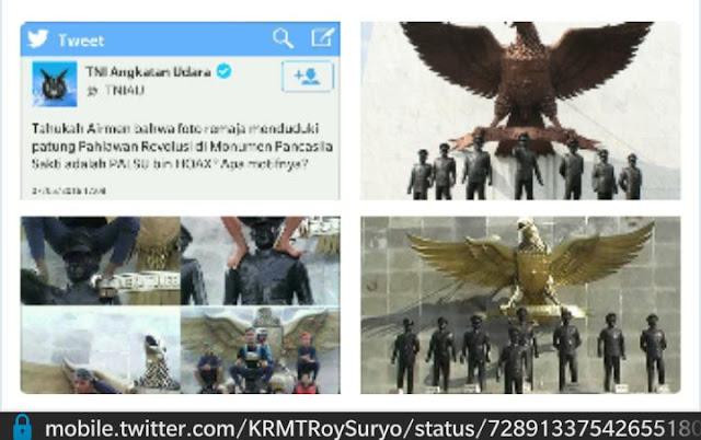 Bukan HOAX! Roy Suryo Semprot TNI AU, Itu Patung yang Diduduki di Simalungun Bukan Halim