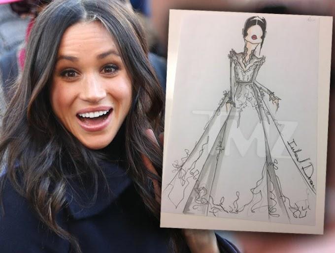 Sketch of Meghan Markle's possible wedding dress revealed