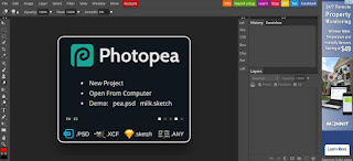 Photopea una excelente alternativa en linea para Photoshop