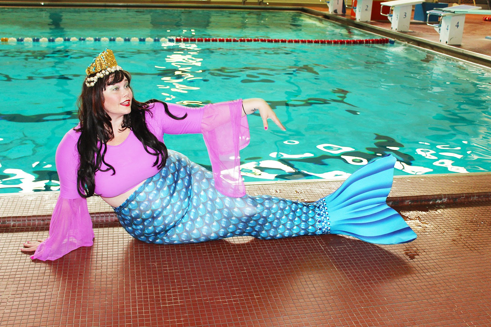 Mermaid, mermaid classes, mermaid Chicago, Plus Size blogger, Style Plus Curves