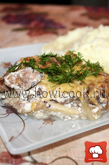 рецепт вкусной рыбы с грибами