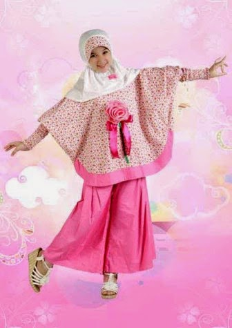 Contoh baju muslim anak perempuan Aini
