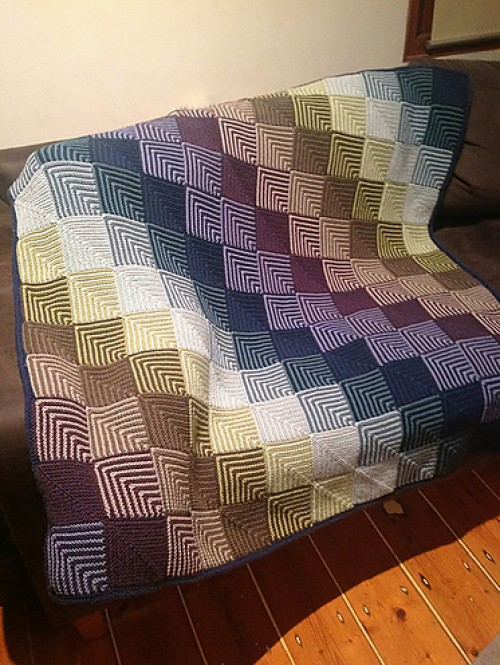Mitred Squares Blankets - Knitting Pattern