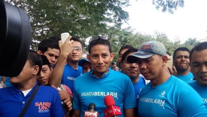 Kecewa Jakarta Marathon, Sandiaga: Insya Allah Tahun Depan Ganti Gubernur dan akan Lebih Baik