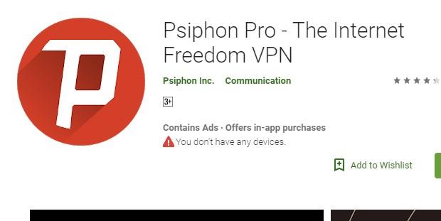 Internet Gratis Psiphon Pro Terbaru 2019