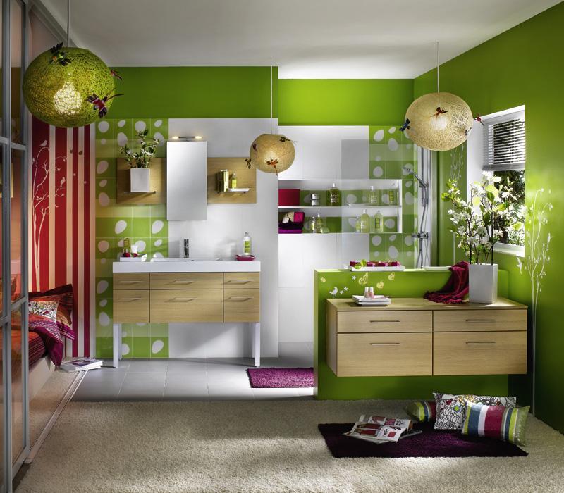 $ديكورراات حمامات جديدة <الجزء الاول> gorgeous-green-bathr