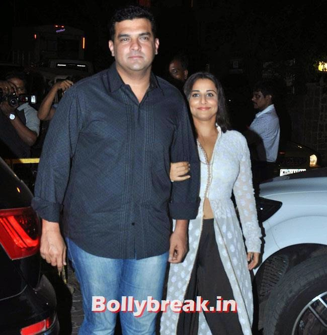 Siddharth Roy Kapoor and Vidya Balan, Karan Johar Birthday Party Pics 2014