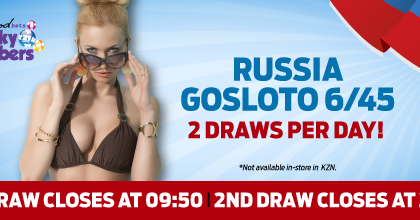 Hollywoodbets Sports Blog: Russia Gosloto 6/45 - Lucky Numbers
