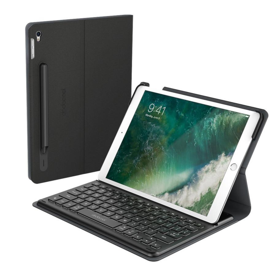 Dodocool Tastiera MFI per iPad Pro con Smart Connector Slim custodia Folio Retroilluminata