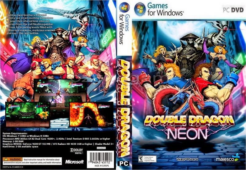 Jogo Double Dragon Neon PC DVD Capa