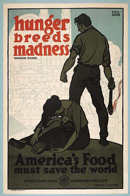 Hunger Breeds Madness,1918, Emil Grebs.