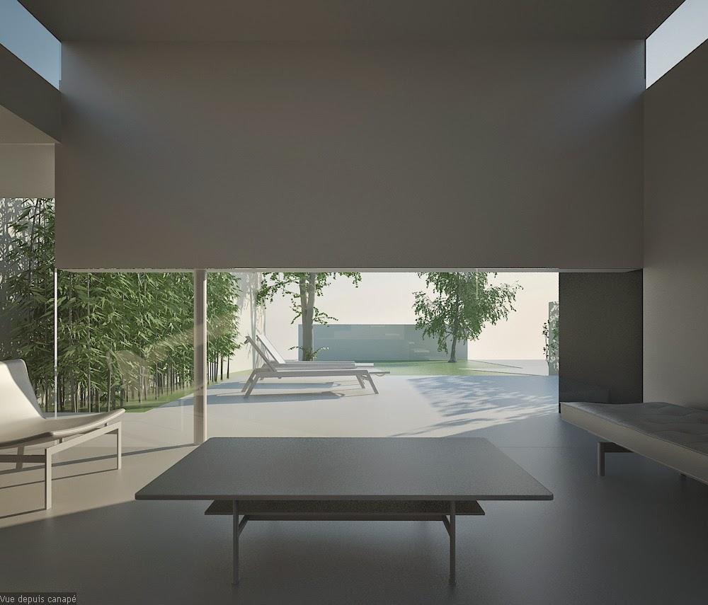 plan extension maison plain pied. Black Bedroom Furniture Sets. Home Design Ideas