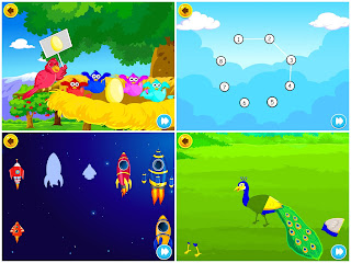 Some screenshots of games in KidloLand