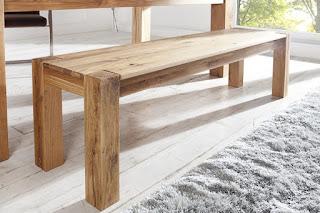 Jedálenská lavica z masívneho dreva Reaction