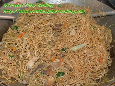Pansit Lucban - Cooking Procedure