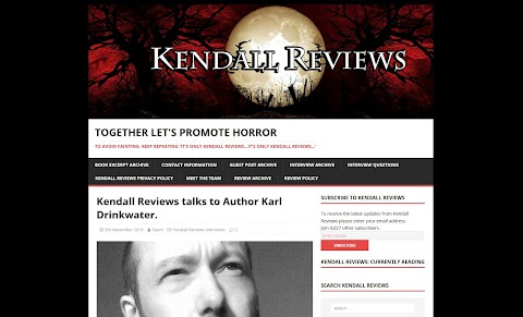 Kendall Reviews Talks To Author Karl Drinkwater