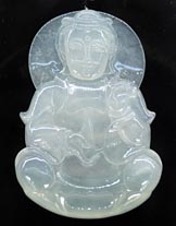 white Buddha pendant with beautiful transparency