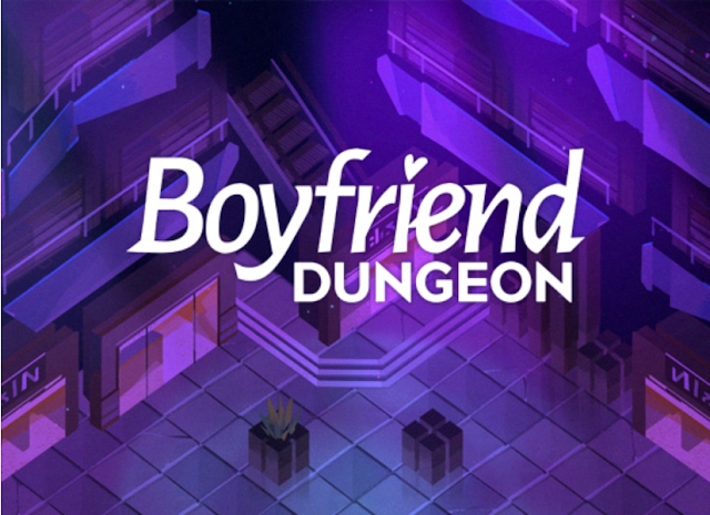 The game's title, on an isometric dungeon tileset.