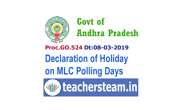 Declaration of Holidays, on the day of poll and on the day of counting of votes as per the necessity