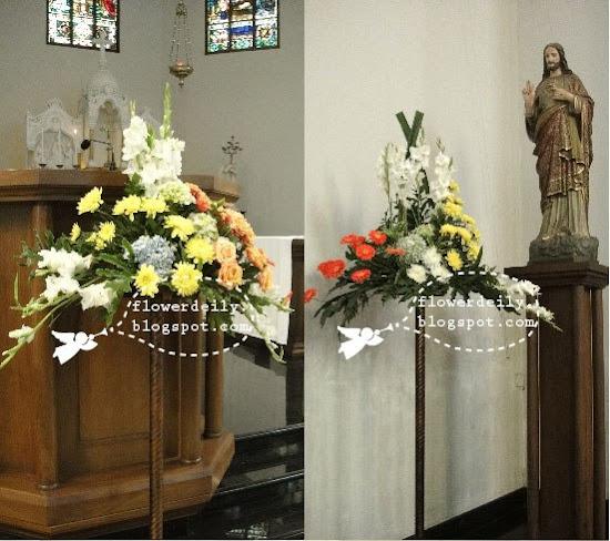 Church Wedding Flower Decorations: Wedding Church Décor: Tropical Colour