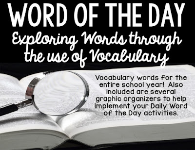 Word of the Day:  Exploring words through the use of vocabulary!