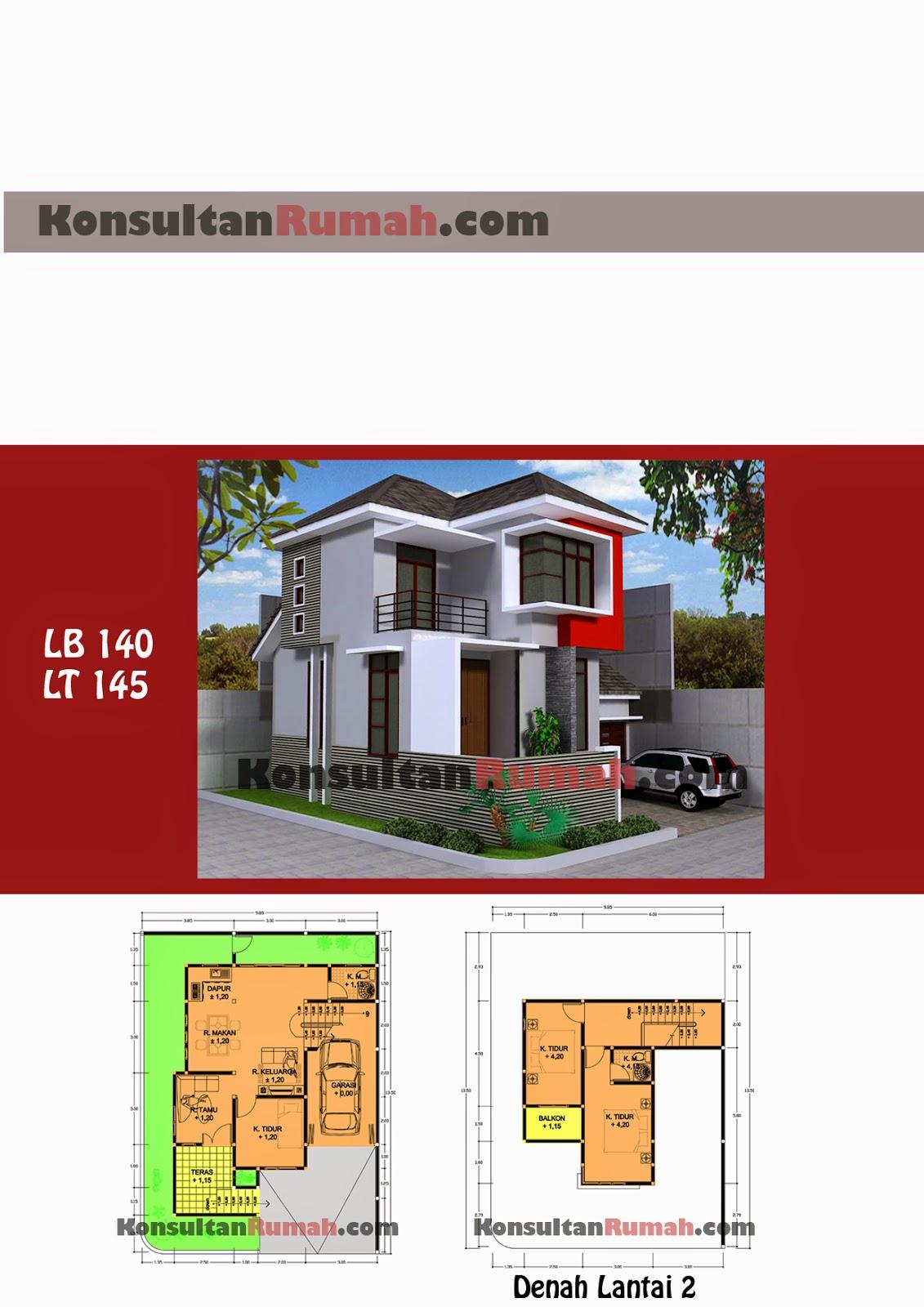 Desain Rumah Minimalis 2 Lantai Autocad Gambar Foto Desain Rumah