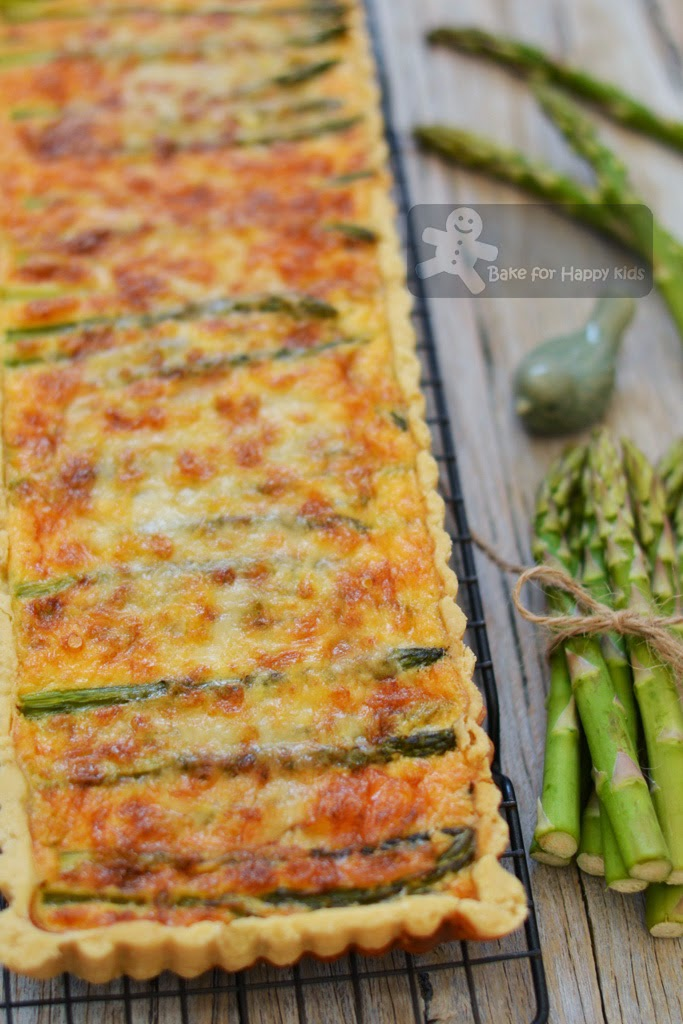asparagus and spring onion gruyere cheese tart Gordon Ramsay