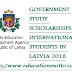 LATVIAN GOVERNMENT STUDY SCHOLARSHIPS FOR INTERNATIONAL STUDENTS IN LATVIA 2018