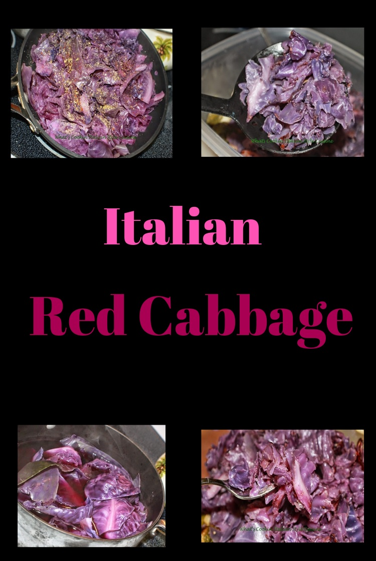 this is a seasoned Italian Style Red Cabbage. The red cabbage recipe is easy and a beautiful color purple cabbage sauteed with garlic and herbs