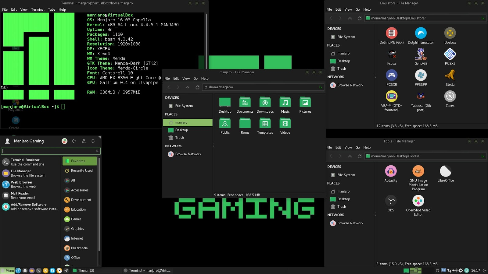 Manjaro Linux Gaming 16.06 projetado para Gamers