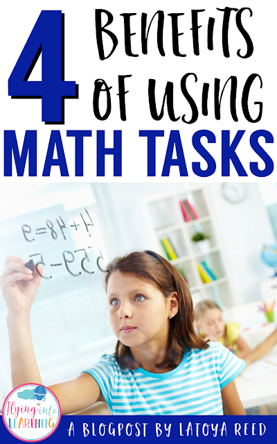 What are Math Tasks?  A math task is a problem(s) that allow students to explore different math concepts or ideas.  They move beyond the basic textbook lesson and encourage students to collaborate and communicate about math ideas.