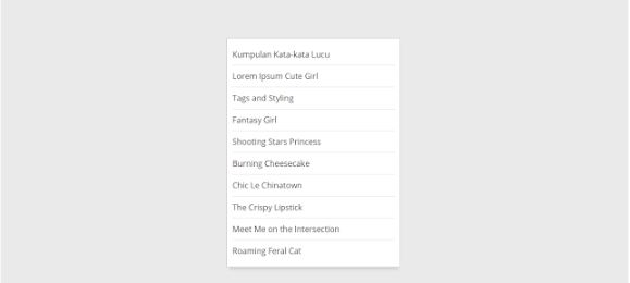 Cara Memasang Recent Post Widget di Blog Custom URL