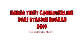 Harga Tiket Commuterline Dari Stasiun Buaran Terbaru 2019