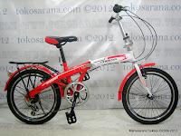 Sepeda Lipat Phoenix NP16-2020 6 Speed Shimano RevoShift 16 Inci