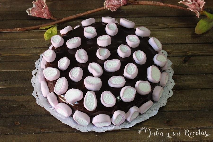 Tarta de chocolate y nubes