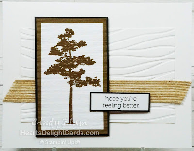 Heart's Delight Cards, Rooted In Nature, Masculine Card, Stampin' Up!