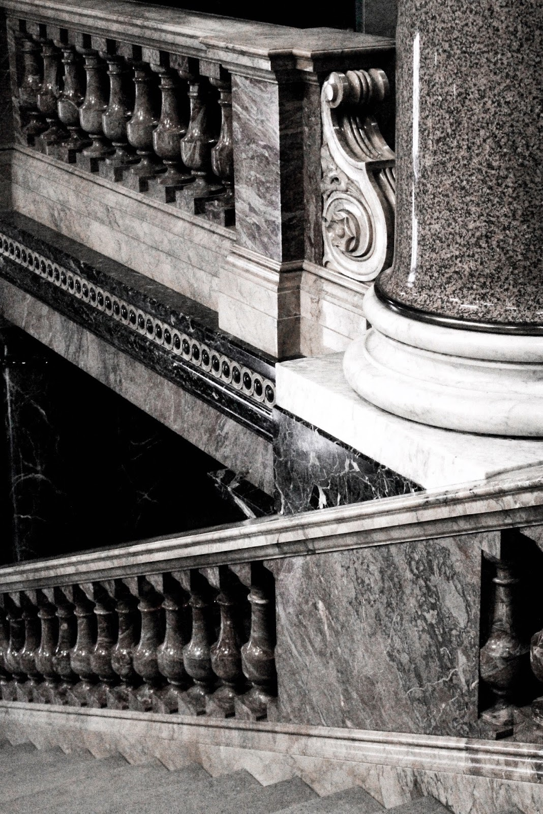 Staircase Leading Into The Fitzwilliam Museum Cambridge